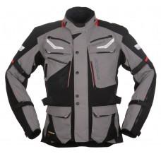 Modeka Chekker bunda čierna/sivá/červená