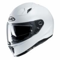 HJC i70 Semi flat Pearl White