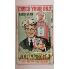Retro tabuľka Aero star oil 25x40cm