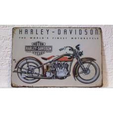 Retro tabuľka Harley´s world finest motorcycle 20x30cm