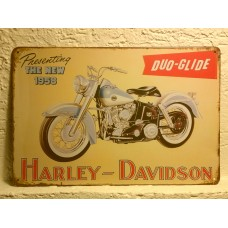 Retro tabuľka Harley Davidson Duo-Glide 1958 20x30cm