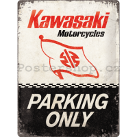 Retro tabuľka Kawasaki Parking Only 30x40cm