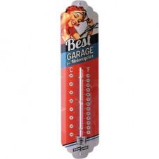 Plechový teplomer Best garage