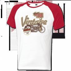 Held Vintage Tričko 9486 bieločervené pánske